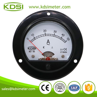 20 years Professional Manufacturer BO-65 AC50/5A ac analog round panel current meter
