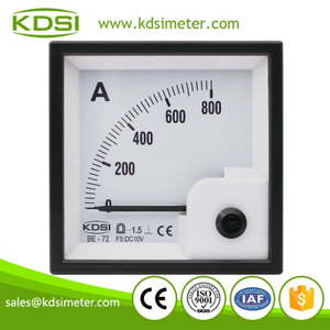 High quality professional BE-72 DC10V 800A analog dc panel mount ammeter