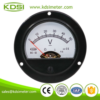 CE Approved BO-52 DC50V analog panel mount round voltmeter