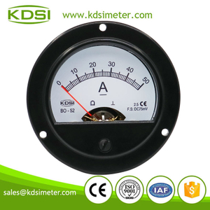 High quality professional BO-52 DC75mV 50A dc amp round analog panel meter