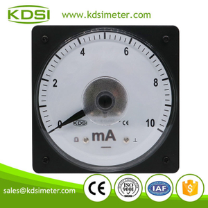 Hot sales marine meter LS-110 DC10mA wide angle panel analog dc ampere indicator