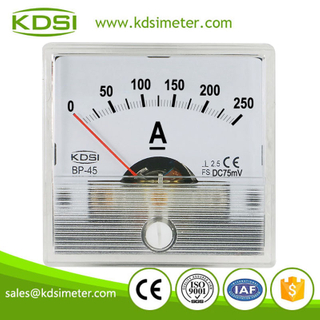 Small & high sensitivity BP-45 DC75mV 250A analog panel dc high precision ammeter