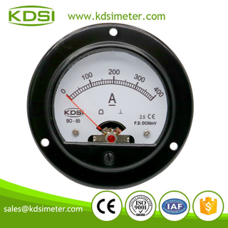 Safe to operate BO-65 DC60mV 400A dc round analog panel meter