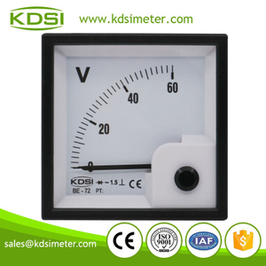 Original manufacturer high Quality BE-72 AC60V rectifier analog ac panel mount voltmeter