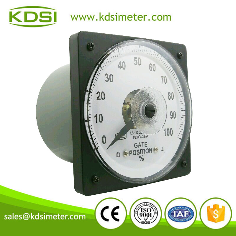 Factory direct sales marine meter LS-110 110*110 DC4-20mA 100% analog gate position meter