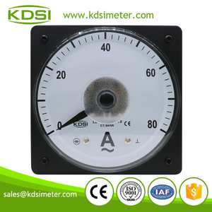 China Supplier LS-110 AC80/5A wide angle panel ac current electric meter analog