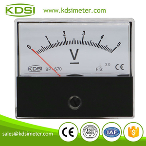 China Supplier BP-670 DC5V panel analog dc voltmeter & ammeter for solar power