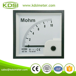 Easy installation BE-96 96 * 96 DC10V 10Mohm voltage Meg Ohm Meter