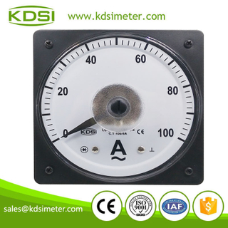 Marine meter LS-110 110*110 AC100/5A wide angle analog ammeter