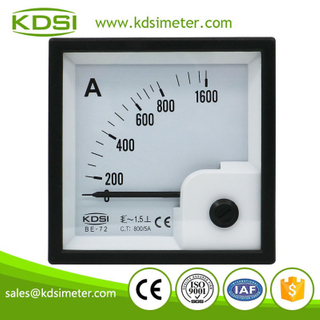High quality BE-72 AC800/5A ac analog voltage and current meter panel meter