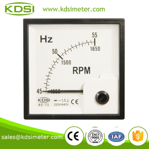 KDSI square type BE-72 220-440V 45-55HZ+RPM analog panel Frequency meter