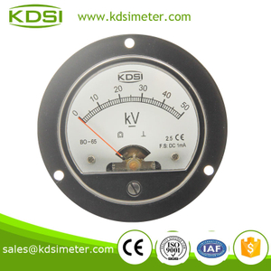 BO-65 DC Voltmeter DC1mA 50KV round type high precision analog panel meter