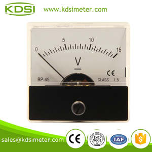 Small & high sensitivity BP-45 DC15V dc voltmeter
