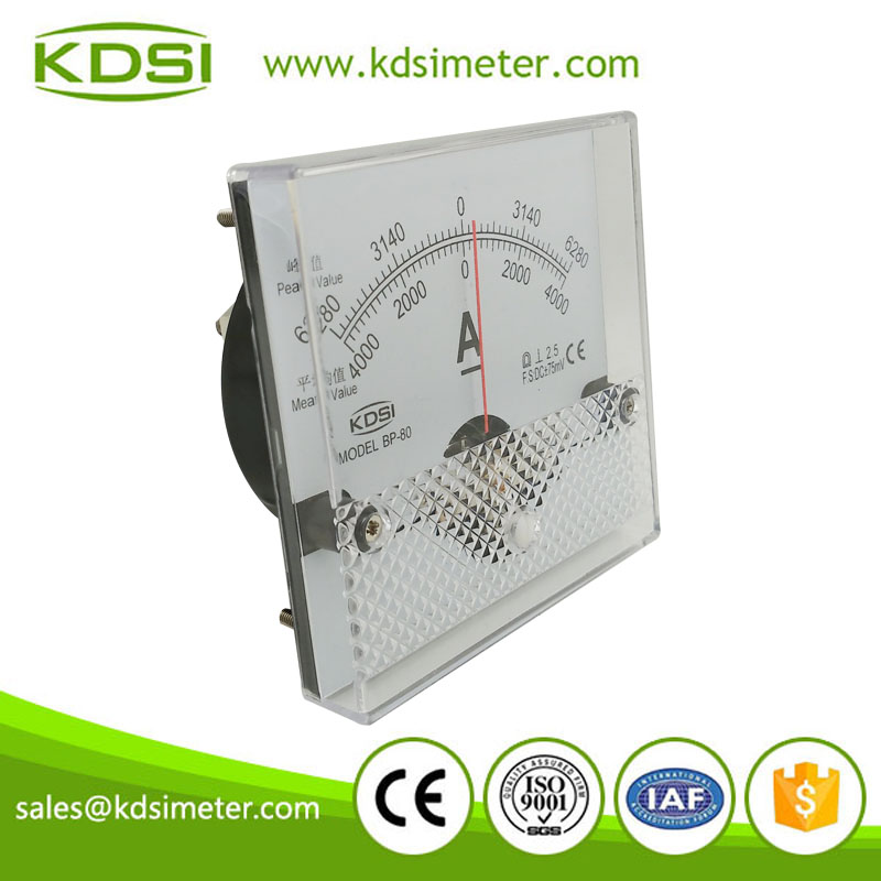 Multi-purpose BP-80 80*80 DC+-75mV +-4000A analog zero center meter in current meters