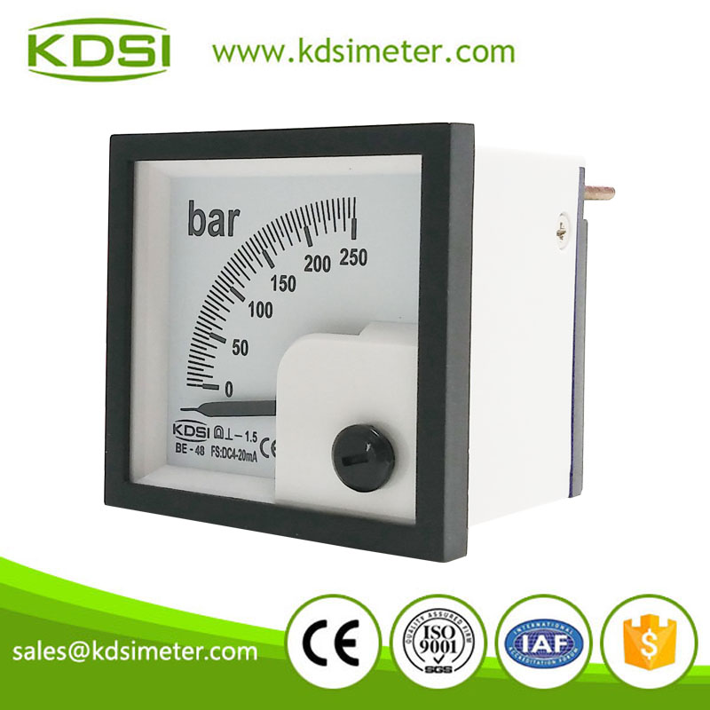 2016 New design BE-48 DC4-20mA 250bar current pressure gage