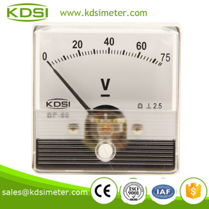 Special Meter for welding Machine BP-60N 60*60 DC75V panel analog dc voltmeter