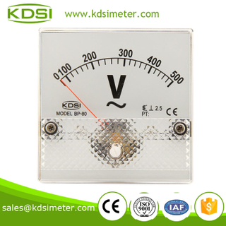BP-80 80*80 AC Voltmeter AC500V CE approved analog panel meter