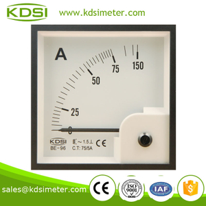 Taiwan technology BE-96 96*96 AC75/5A analog ammeter