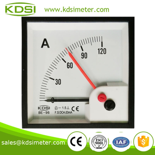 CE certificate Taiwan technology BE-96 DC4-20mA 120A double pointer analog dc ammeter